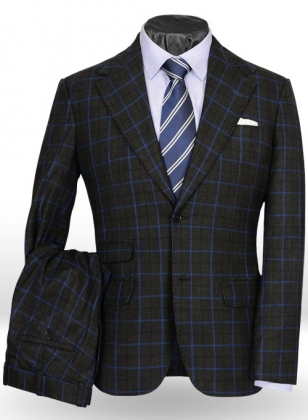 Light Weight Casino Black Tweed Suit