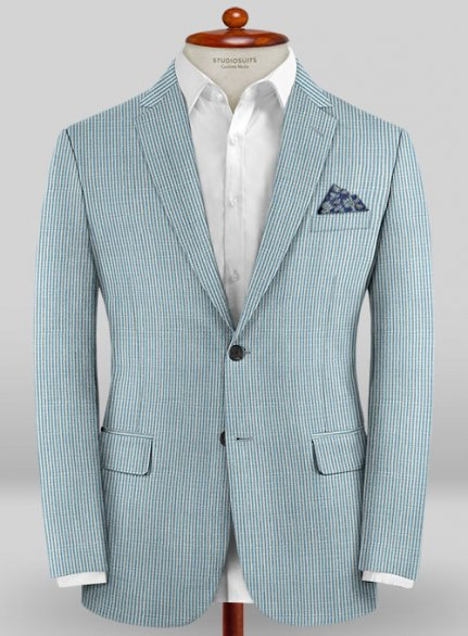 Scabal Taormina Pucho Blue Wool Jacket