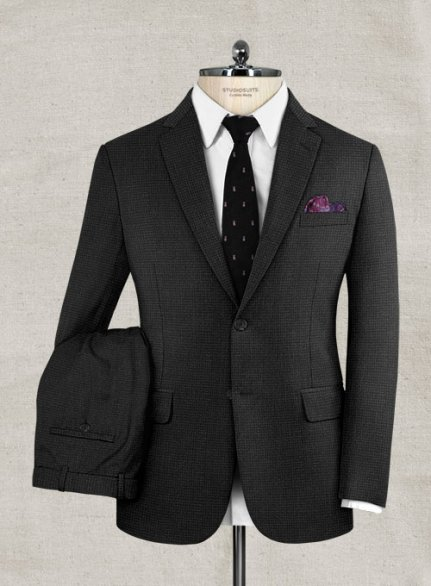 Zegna Traveller Lugo Charcoal Wool Suit