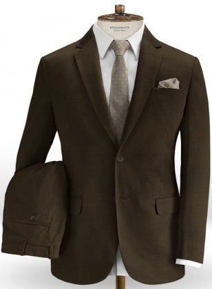 Heavy Dark Brown Chino Suit