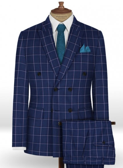 Napolean Aria Royal Blue Wool Suit