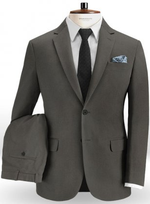 Summer Weight Dark Gray Chino Suit