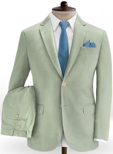 Slate Green Stretch Chino Suit