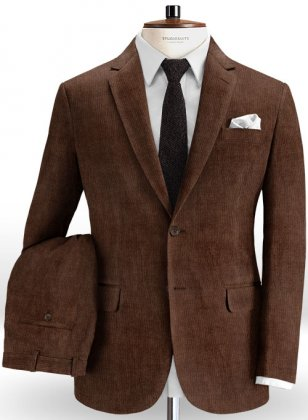 Rich Brown Corduroy Suit