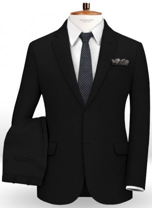 Napolean Imperial Black Wool Suit