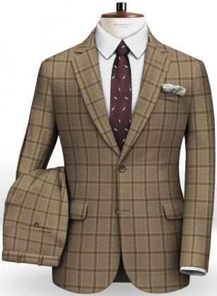 Light Weight Autumn Beige Tweed Suit