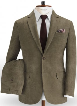 English Beige Corduroy Suit