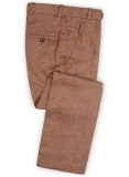 Italian Brown Twill Linen Pants