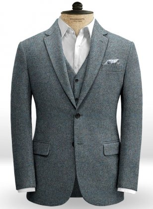 French Blue Tweed Jacket