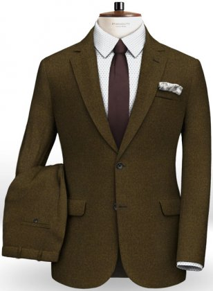 Light Weight Melange Green Tweed Suit