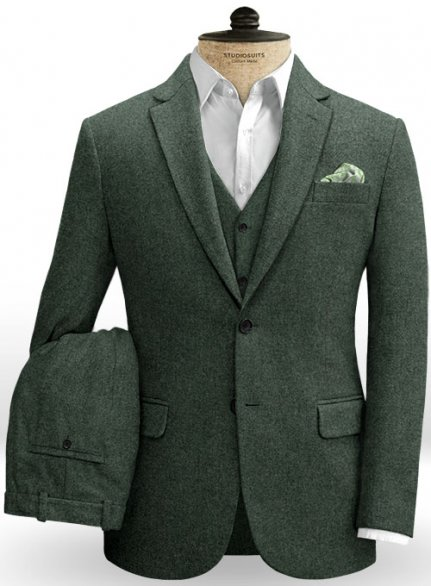 Green Heavy Tweed Suit