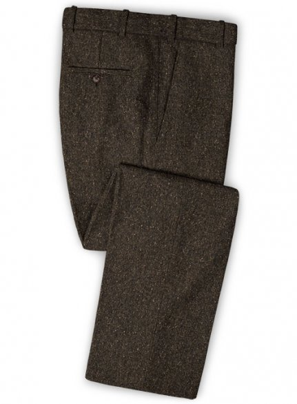Brown Flecks Donegal Tweed Pants - Pre Set Sizes - Quick Order