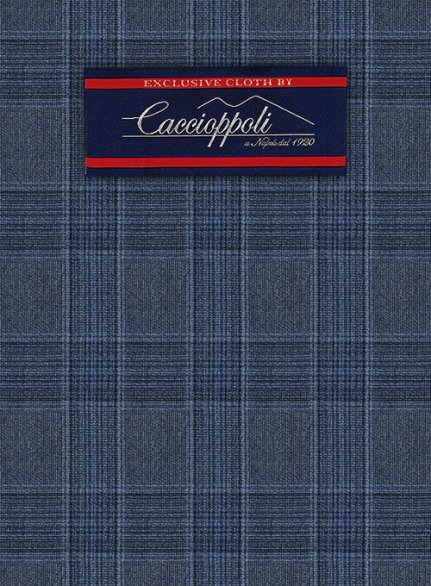 Caccioppoli Wool Blue Ferri Jacket