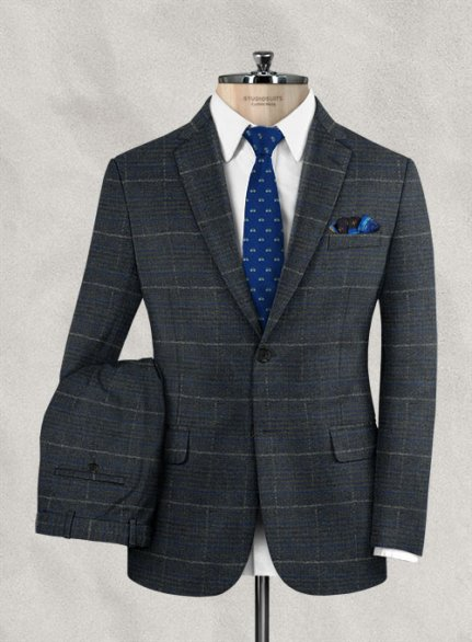 Italian Wool Cotton Stretch Rotgi Suit