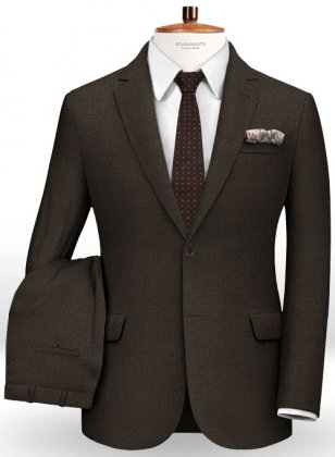 Birdseye Wool Brown Suit