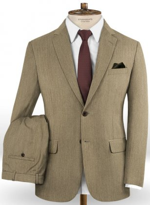 Scabal Crude Brown Wool Suit