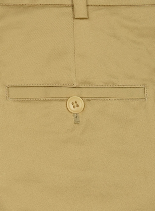 Khaki Fine Twill Tailored Chinos