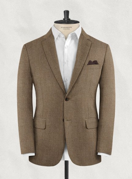 Charles Clayton Salvi Brown Wool Cashmere Jacket