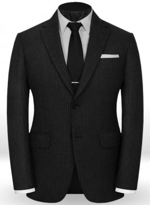 Light Weight Black Stripe Tweed Jacket