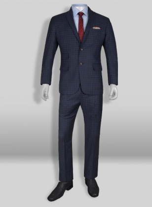 Charles Blue Checks Wool Suit