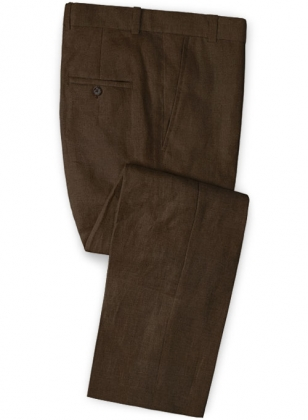 Safari Brown Cotton Linen Pants