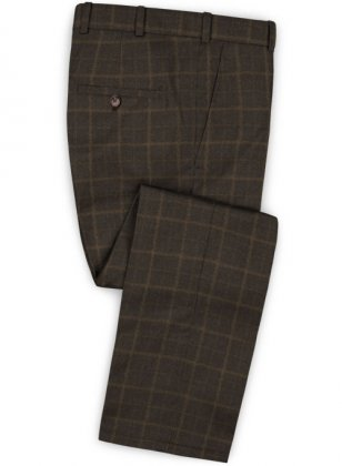 Pisa Brown Feather Tweed Pants