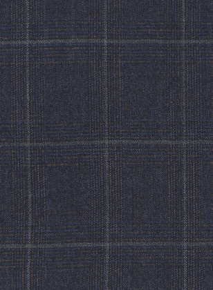 Italian Blue Checks Angora Wool Suit