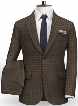 Edward Stretch Cotton Brown Suit