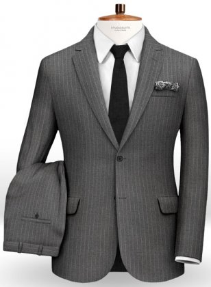 Chalkstripe Wool Gray Suit