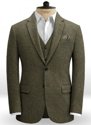 Showman Green Tweed Jacket