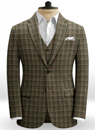 Aros Checks Tweed Jacket