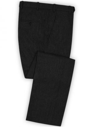 Light Weight Black Stripe Tweed Pants
