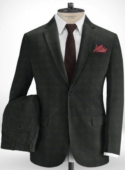 Cotton Stretch Accri Dark Gray Suit