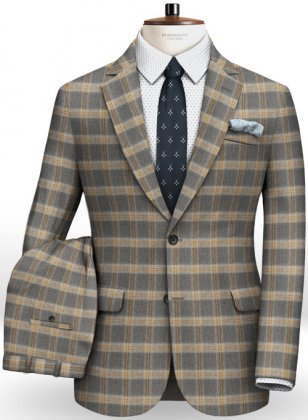 Parma Gray Feather Tweed Suit
