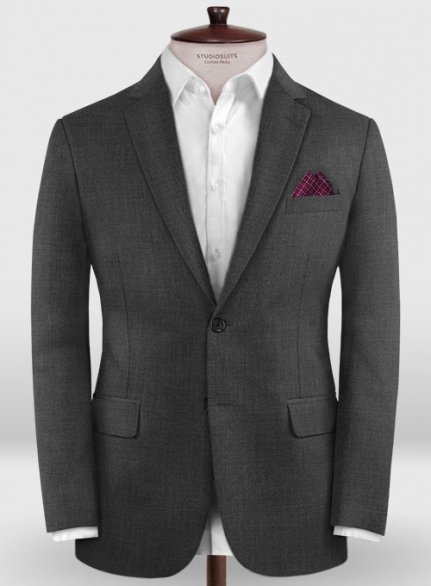 Zegna Traveller Charcoal Wool Jacket