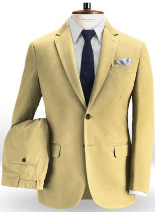 Light Khaki Chino Suit
