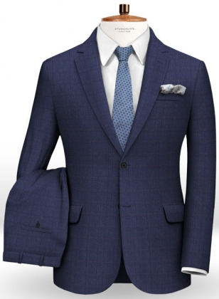 Glen Wool Blue Suit
