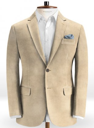 Light Beige Thick Corduroy Jacket