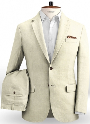 Safari Fawn Cotton Linen Suit