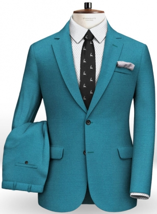 Napolean Yale Blue Wool Suit