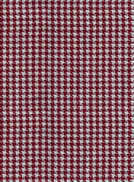 Reda Carmine Red Houndstooth Wool Suit