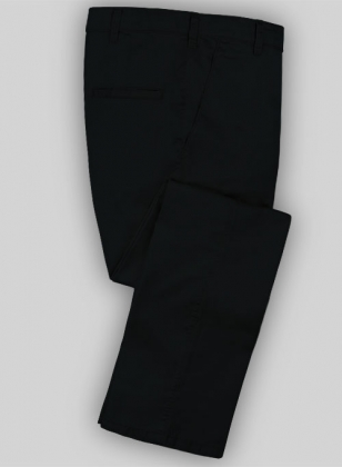 Washed Blue Black Fine Twill Pants