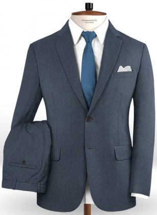 Scabal Blue Twill Wool Suit