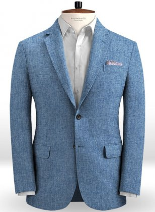 Solbiati Denim Light Blue Linen Jacket