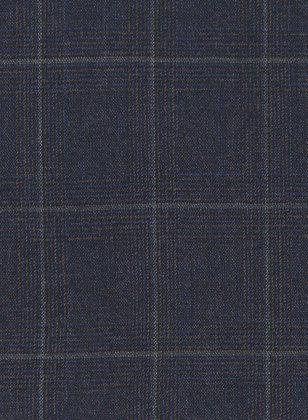 Italian Blue Checks Angora Wool Jacket
