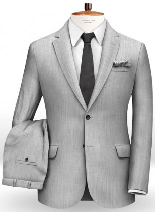 Worsted Silver Moon Wool Suit