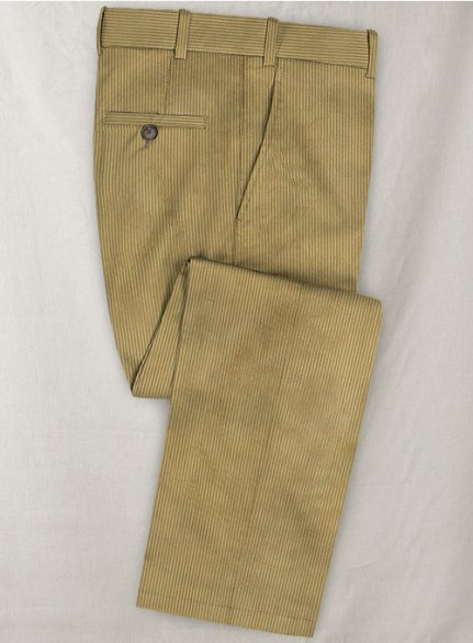 Beige Thick Corduroy Pants