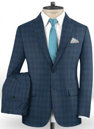 Napolean Tin Blue Wool Suit
