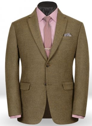 Light Weight Rust Brown Tweed Jacket