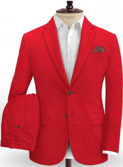 Naples Red Tweed Suit